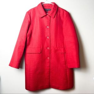 Fleet Street Quilted Red Trench Coat